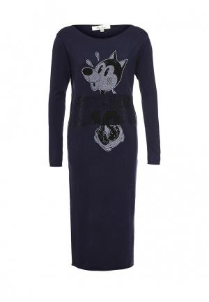 Платье Blue Oltre. Цвет: синий