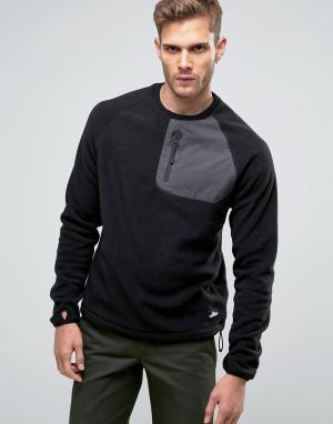 Penfield Черный флисовый свитшот Carney. Цвет: черный