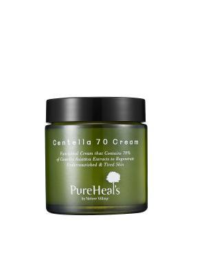 Увлажняющий крем для лицас экстрактом центеллы. PUREHEALS CENTELLA 70 CREAM.. Цвет: зеленый