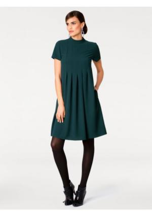 Платье ASHLEY BROOKE by Heine. Цвет: темно-зеленый