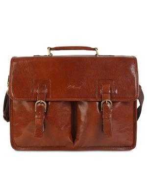 Портфель Gareth Ashwood Leather. Цвет: светло-коричневый