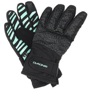 Перчатки женские  Electra Glove Wildside Dakine. Цвет: голубой,черный