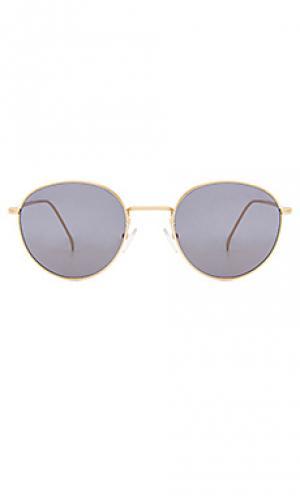 Солнцезащитные очки jefferson illesteva. Цвет: металлический золотой