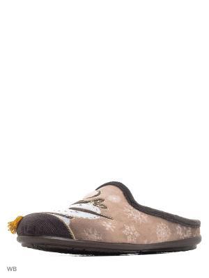 Тапочки BOISSY. Цвет: коричневый