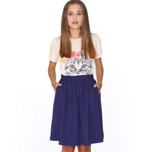 Юбка короткая расклешенная , Skirt Eloisa PEPALOVES. Цвет: синий морской