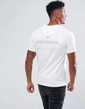 Good For Nothing Белая обтягивающая футболка со светоотражающим принтом на спине F. Цвет: белый