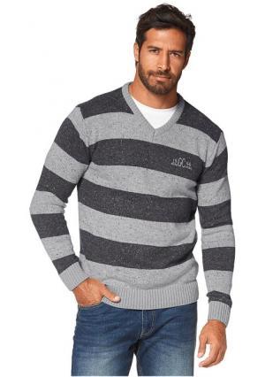 Пуловер GREY CONNECTION. Цвет: темно-серый/светло-серый в полоску