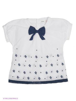 Блузка MANAI. Цвет: белый, синий