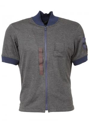 Куртка-бомбер с короткими рукавами Kolor. Цвет: серый