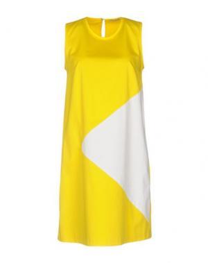 Короткое платье HOPE COLLECTION. Цвет: желтый