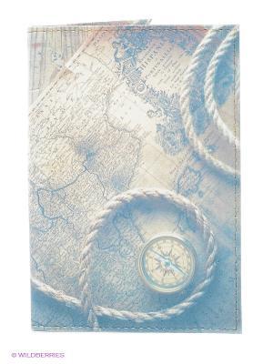 Обложка для паспорта Mitya Veselkov. Цвет: светло-бежевый, голубой