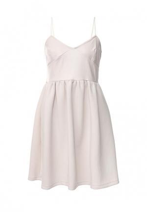 Платье Atos Lombardini. Цвет: бежевый