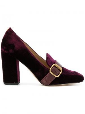 Бархатные туфли Ellison Sam Edelman. Цвет: розовый и фиолетовый