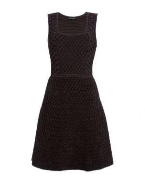 Короткое платье ANTONINO VALENTI. Цвет: темно-коричневый