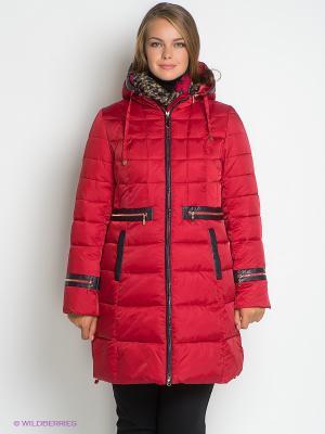 Пальто Sinta Via. Цвет: темно-красный