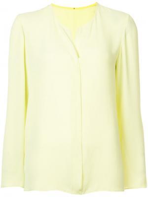 Блузка с круглым вырезом прорезью Peter Cohen. Цвет: зелёный