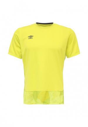 Футболка спортивная Umbro. Цвет: желтый