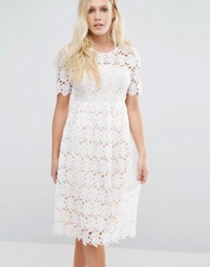 Little White Lies Платье кроше Tagan. Цвет: белый