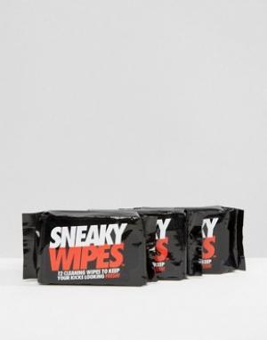 Sneaky Упаковка из 3 влажных салфеток. Цвет: мульти