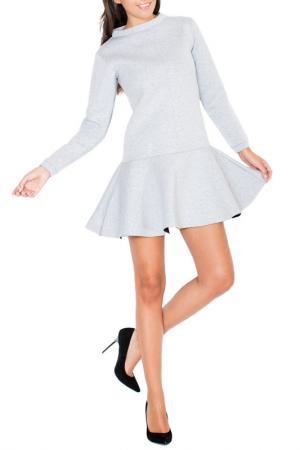 Платье KATRUS. Цвет: grey