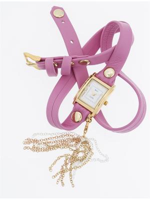 Часы La Mer Collections Charm Tassle Poppy Pink. Цвет: розовый