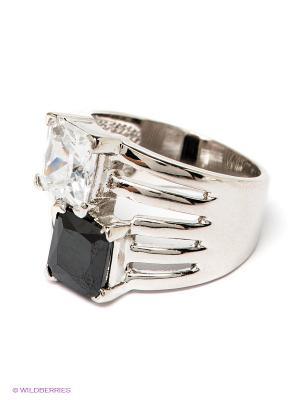 Кольцо Krikos. Цвет: черный, прозрачный, серебристый