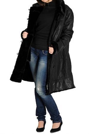 Пальто Isaco & Kawa. Цвет: black