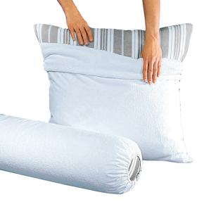 Чехол под наволочку из махровой ткани 400г/м², с непромокаемым покрытием ПВХ REVERIE. Цвет: белый