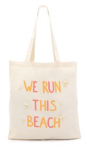 Объемная сумка с короткими ручками We Run This Beach Zhuu