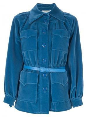 Костюм с юбкой и пиджаком Emanuel Ungaro Vintage. Цвет: синий
