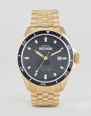 Vivienne Westwood Золотистые часы-браслет VV181NKGD. Цвет: золотой