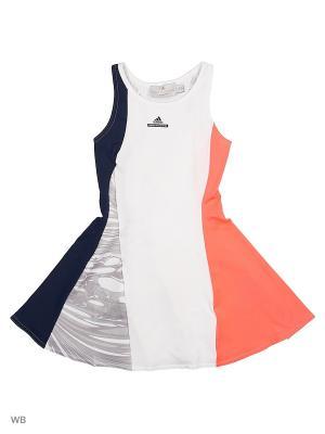 Платье дет. спорт. G DRESS  WHITE/CONAVY/FLARED Adidas