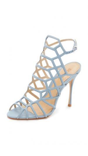 Решетчатые босоножки Juliana Schutz. Цвет: джинсовый