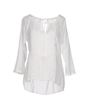 Блузка LOCAL APPAREL. Цвет: белый