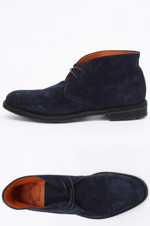 Ботинки Santoni. Цвет: синий