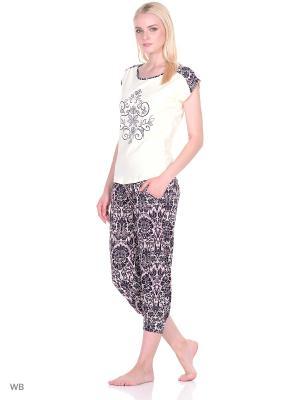 Пижама женская NICOLETTA. Цвет: кремовый