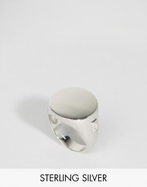 Lavish Alice Серебряное кольцо-печатка. Цвет: серебряный
