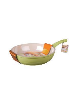 Сковорода 28см Green Top. Цвет: салатовый