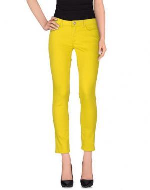 Джинсовые брюки TELERIA ZED. Цвет: желтый