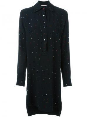 Платье-рубашка с удлиненной спинкой Christopher Kane. Цвет: чёрный