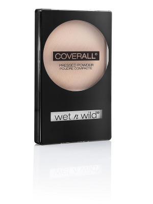 Компактная пудра для лица coverall pressed powder, Тон E821B Wet n Wild. Цвет: прозрачный