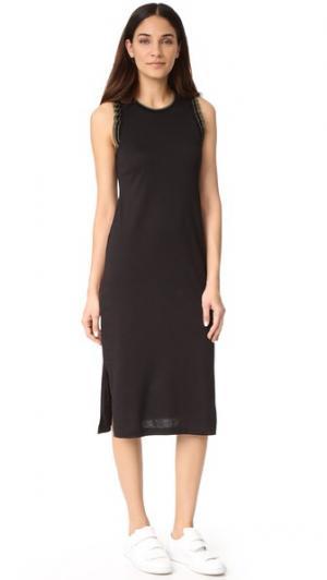 Платье без рукавов с оборками Grey Jason Wu. Цвет: голубой