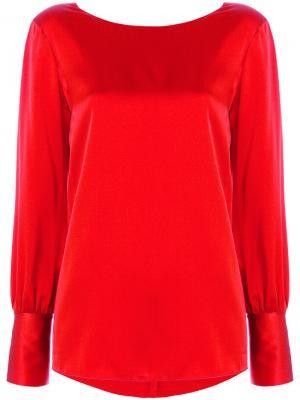 Блузка с V-образным вырезом Jucca. Цвет: красный