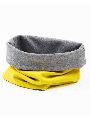 Снуд BODO. Цвет: серый меланж, желтый