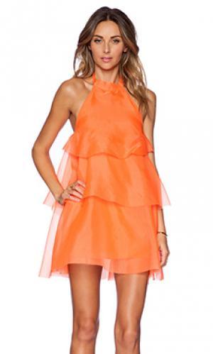 Платье joy May.. Цвет: оранжевый