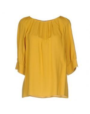 Блузка DEVOTION. Цвет: охра