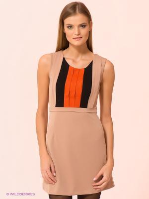 Платье Kling. Цвет: бежевый, оранжевый