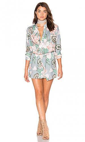 Платье с перекрестными шлейками спереди Stillwater. Цвет: синий