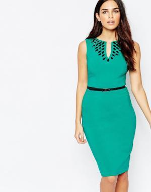 Hybrid Платье миди с отделкой и ремнем Fleur