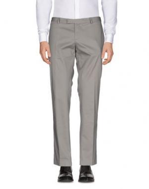 Повседневные брюки DAVID NAMAN. Цвет: голубиный серый